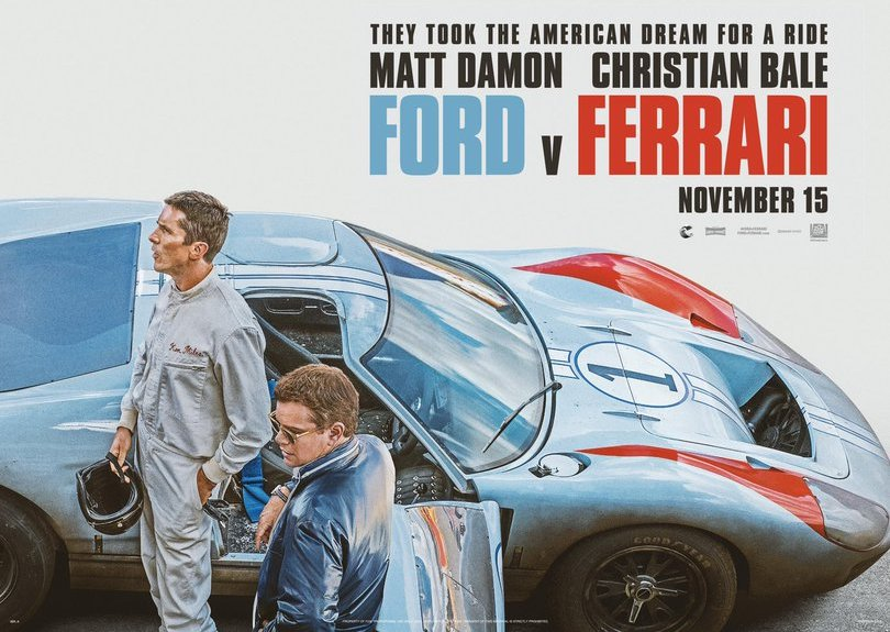 плакат «Форд против Феррари»